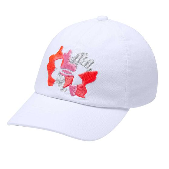 Under Armour Girls Sparkle Cap White / Red OSFA, White / Red, rebel_hi-res