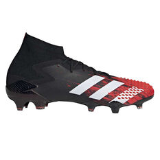 adidas Predator 20.1 Football Boots Black / White US Mens 7.5 / Womens 8.5, Black / White, rebel_hi-res