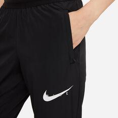 Nike Womens Swoosh Run Running Track Pants, Black, rebel_hi-res