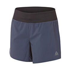 Reebok Womens WOR Woven 5in Shorts Navy XS, Navy, rebel_hi-res