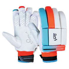 Kookaburra Rapid Pro 5.0 Cricket Batting Gloves White Right Hand, White, rebel_hi-res