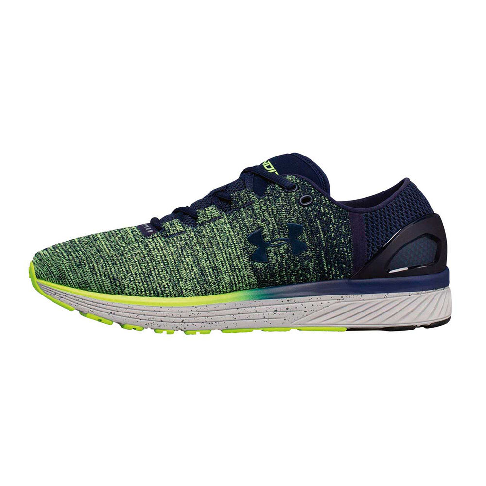 b474f7e73f68 ... Under Armour Charged Bandit 3 Mens Running Shoes Blue Green US 7