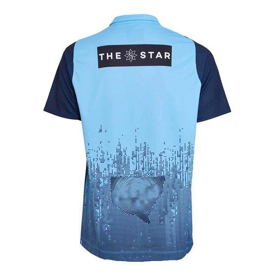 NSW State of Origin Mens Media Polo, Blue, rebel_hi-res