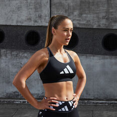 adidas Womens Don't Rest Sports Bra Black XS, Black, rebel_hi-res