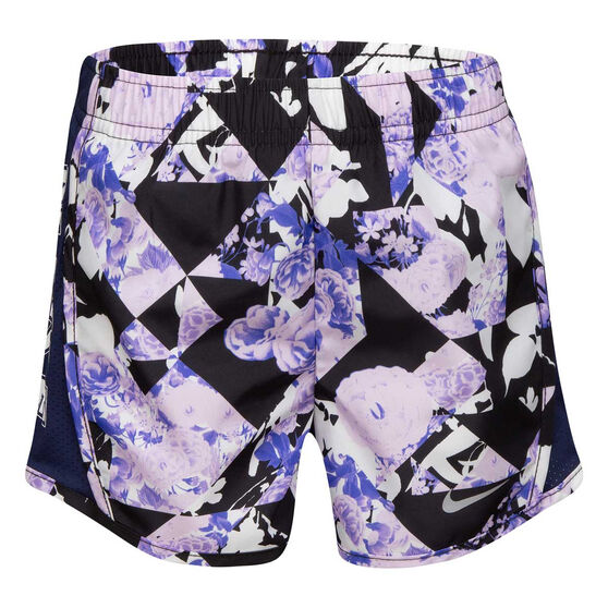 Nike Girls Dri-FIT Floral Tempo Shorts, Blue, rebel_hi-res