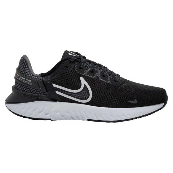 Nike Legend React 3 Womens Running Shoes, Black/White, rebel_hi-res