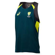 Cricket Australia 2019/20 Mens Training Singlet Green S, Green, rebel_hi-res