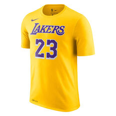a71d8629f Los Angeles Lakers LeBron James Mens Dry Tee Yellow S