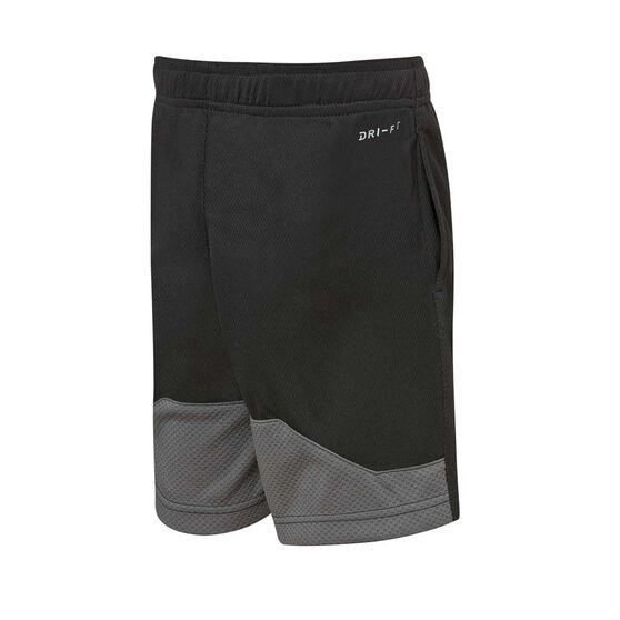 Nike Dri-FIT Boys HBR Shorts, Black / White, rebel_hi-res