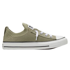 Converse Chuck Taylor All Star Shoreline Knit Low Top Womens Casual Shoes Khaki/White US 5, Khaki/White, rebel_hi-res