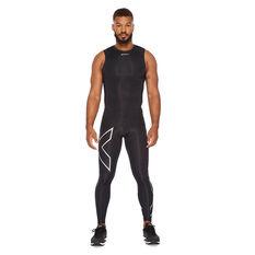 2XU Mens Short Sleeve Compression Top Black XS, Black, rebel_hi-res