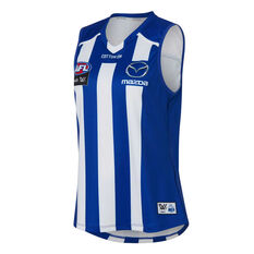 North Melbourne Kangaroos AFLW 2020 Womens Home Guernsey Blue/White XS, Blue/White, rebel_hi-res