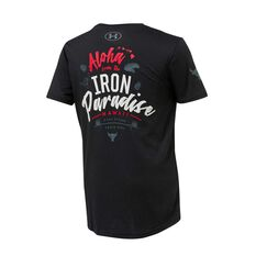 Under Armour Boys Project Rock Iron Paradise Tee Black / Grey XS, Black / Grey, rebel_hi-res
