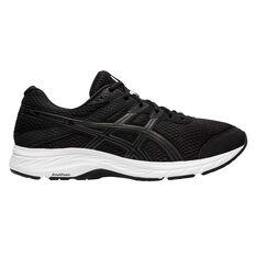 Asics GEL Contend 6 Mens Running Shoes Black/Grey US 7, Black/Grey, rebel_hi-res