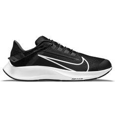 Nike Air Zoom Pegasus 38 FlyEase Mens Running Shoes Black/White US 7, Black/White, rebel_hi-res