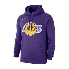 Nike Los Angeles Lakers Mens Club Logo Hoodie Purple S, Purple, rebel_hi-res