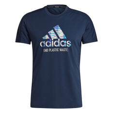 adidas Mens Run for the Oceans Graphic Tee Navy S, Navy, rebel_hi-res