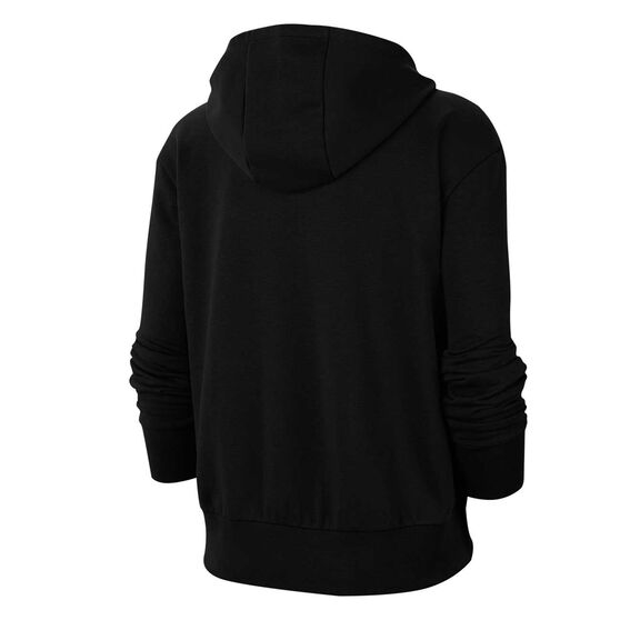 Nike Womens Dri-FIT Get Fit Full Zip Fleece Hoodie, Black, rebel_hi-res