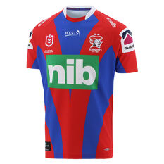 Newcastle Knights 2021 Mens Heritage Jersey Red/Blue S, Red/Blue, rebel_hi-res