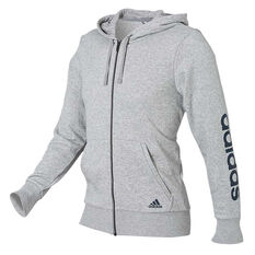 adidas Mens Essentials Linear Hoodie Grey S adult, Grey, rebel_hi-res