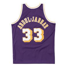 Los Angeles Lakers Kareem Abdul-Jabbar 83/84 Mens Swingman Jersey Purple S, Purple, rebel_hi-res