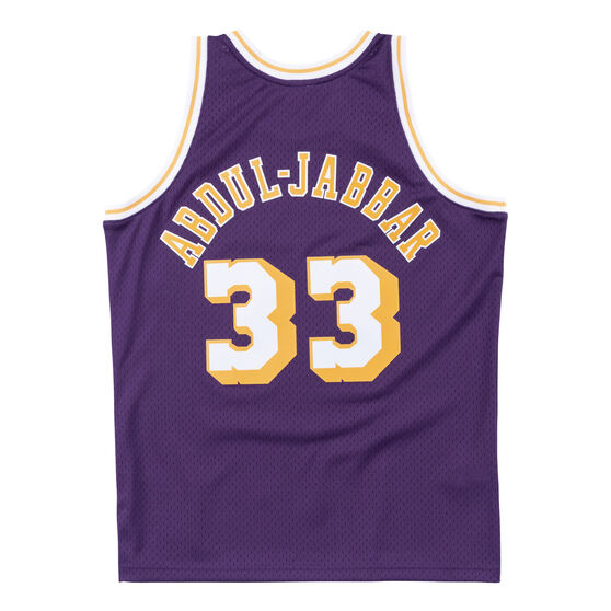 Los Angeles Lakers Kareem Abdul-Jabbar 83/84 Mens Swingman Jersey, Purple, rebel_hi-res