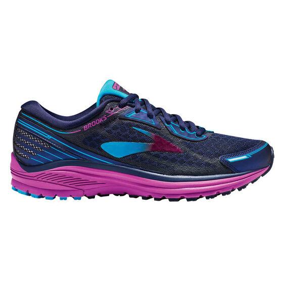 4bb4002bec2ea Brooks Aduro 5 Womens Running Shoes Blue   Purple US 7.5