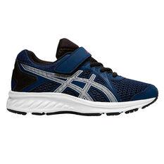 Asics Jolt 2 Kids Running Shoes Navy / Silver US 11, Navy / Silver, rebel_hi-res