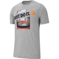 Nike Mens Dri-FIT Basketball Top Grey S, Grey, rebel_hi-res