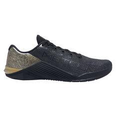 Nike Metcon 5 Black x Gold Mens Training Shoes Black / Gold US 7, Black / Gold, rebel_hi-res