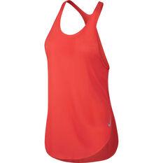 Nike Womens City Sleek Tank Red XS, Red, rebel_hi-res