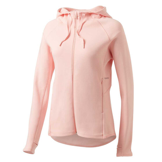 Ell & Voo Womens Helen Full Zip Training Hoodie, Pink, rebel_hi-res