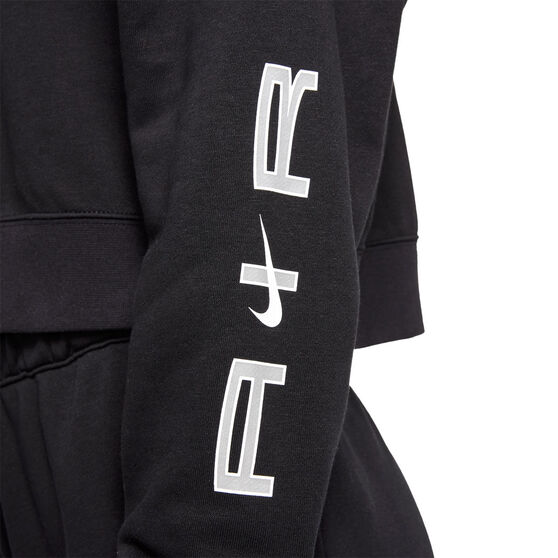 Nike Air Womens Oversized Fleece Hoodie, Black, rebel_hi-res
