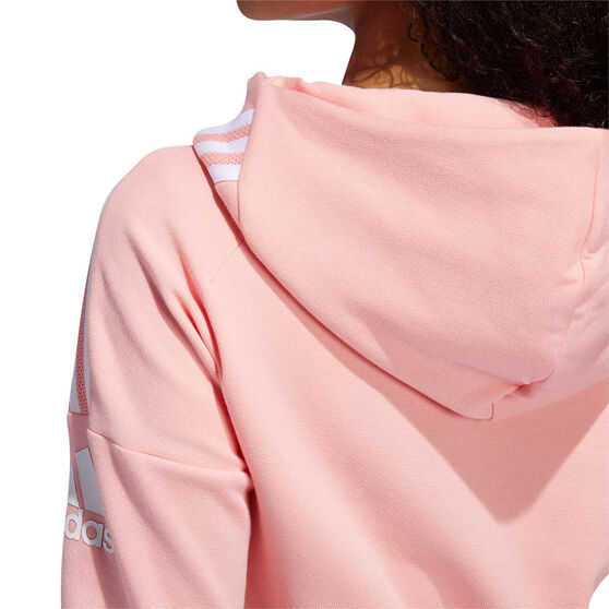 adidas Womens Z.N.E Hoodie Pink XS, Pink, rebel_hi-res