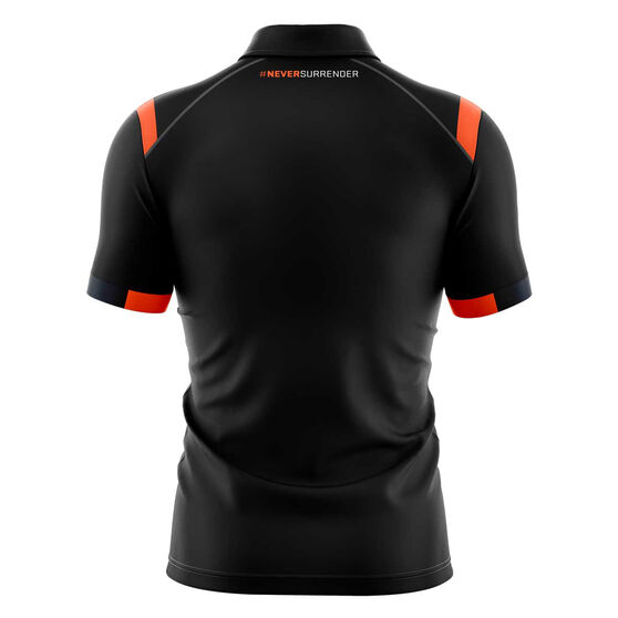 GWS Giants 2020 Mens Media Polo, Grey, rebel_hi-res