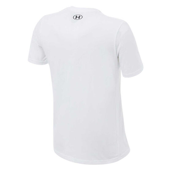 Under Armour Mens Project Rock Brahma Tee, White, rebel_hi-res