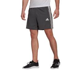 adidas Mens 3-Stripes Ultimate Shorts Grey S, Grey, rebel_hi-res