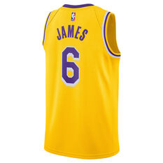 Nike Los Angeles Lakers LeBron James 2021/22 Mens Icon Jersey Gold S, Gold, rebel_hi-res