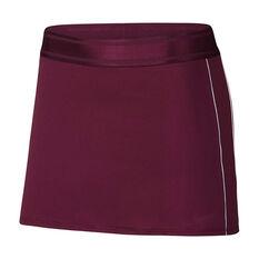 Nike Court Womens Dri FIT Tennis Skirt Purple XS, Purple, rebel_hi-res