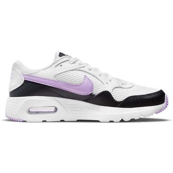 Nike Air Max SC Kids Casual Shoes, White/Purple, rebel_hi-res