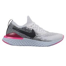 Nike Epic React Flyknit 2 Womens Running Shoes White / Black US 6, White / Black, rebel_hi-res