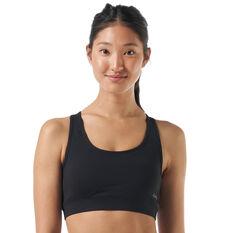 Ell & Voo Womens Krissie Workout Sports Bra Black 8, Black, rebel_hi-res