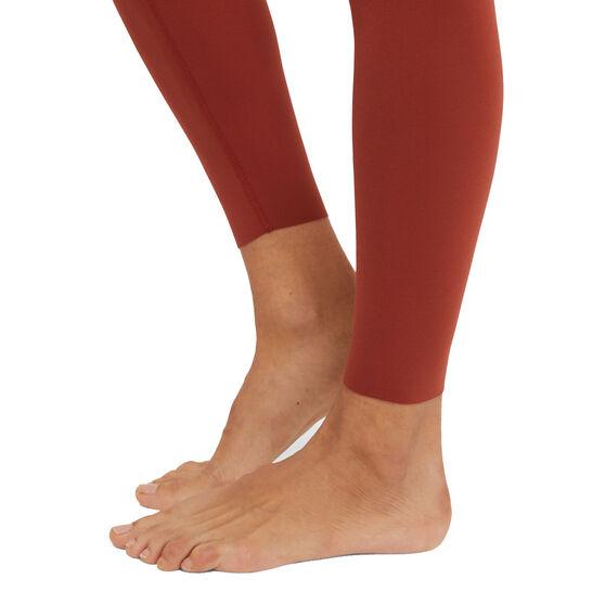 Nike Womens Yoga Luxe Layered 7/8 Tights, Orange, rebel_hi-res