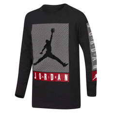 Nike Boys Jordan Jumpman Classics Long Sleeve Tee Black/White S, Black/White, rebel_hi-res