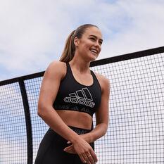 adidas Womens Don't Rest Branded Sports Bra Black XS, Black, rebel_hi-res