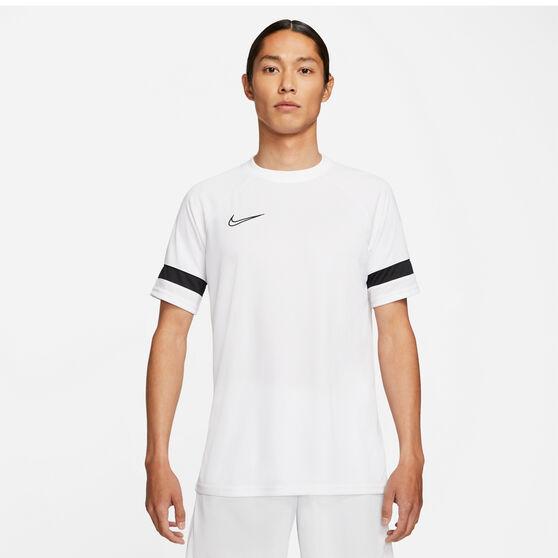 Nike Mens Dri-FIT Academy Soccer Tee, White, rebel_hi-res