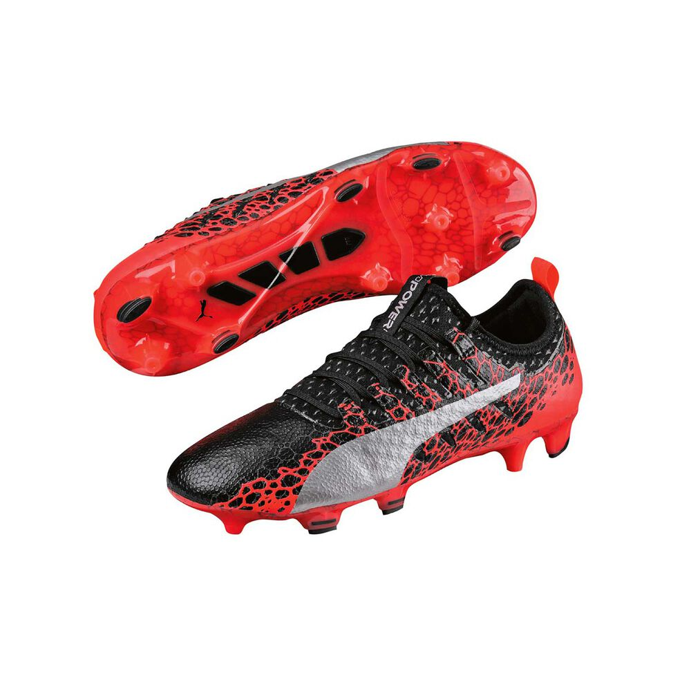 30acd9f6a61 Puma EvoPower Vigor 1 Graphic Mens Indoor Soccer Shoes Black   White US 8.5  Adult