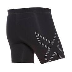 2XU Mens Aspire Compression Half Shorts Black XS, Black, rebel_hi-res