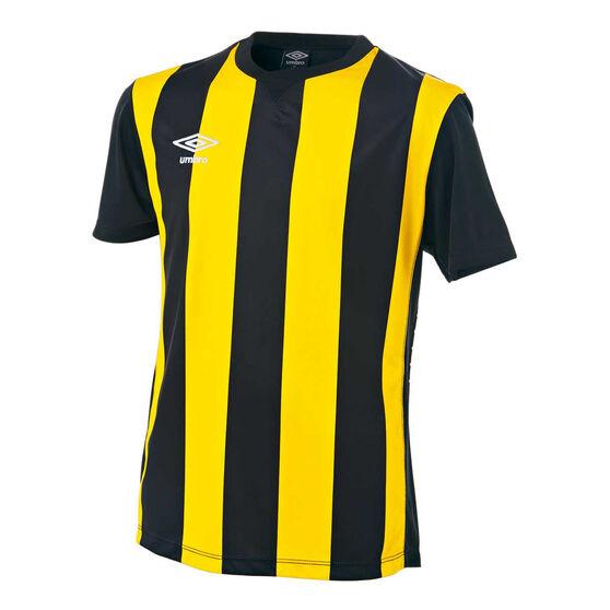 Umbro Kids Striped Jersey, Yellow / Black, rebel_hi-res