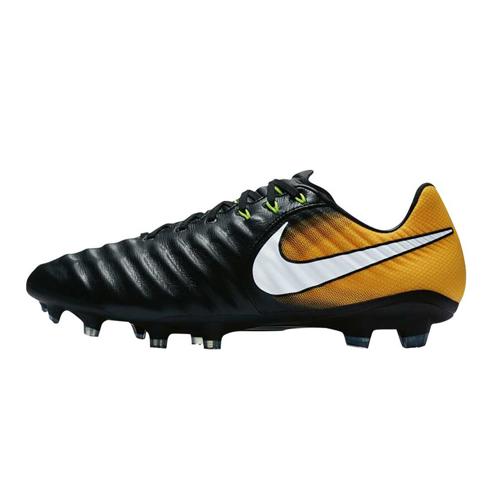 Nike Tiempo Legacy III Mens Football Boots Black   White US 7 Adult ... f47b39a473565